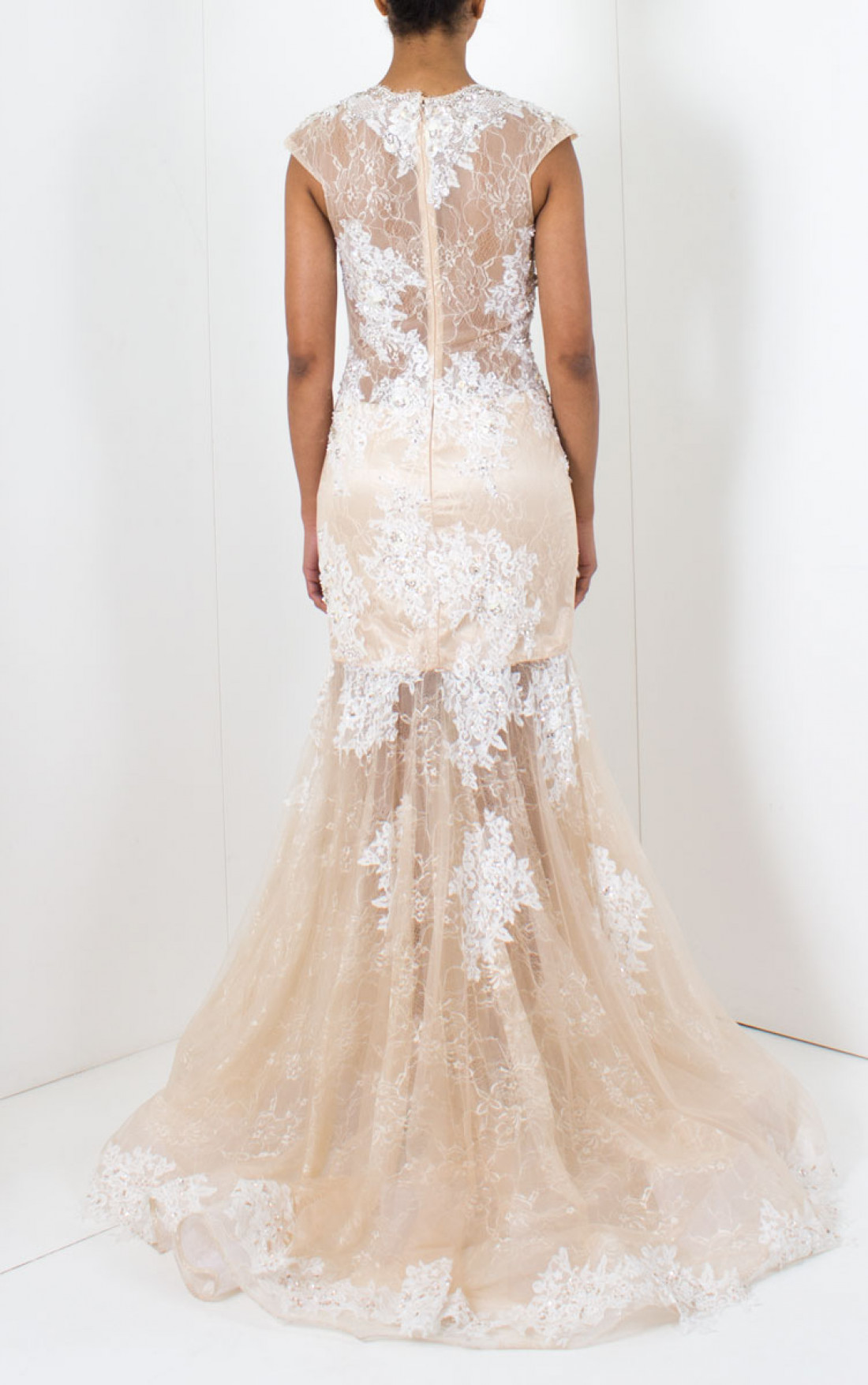Jovani - Sleeveless Lace Wedding Dress (JB74401A)