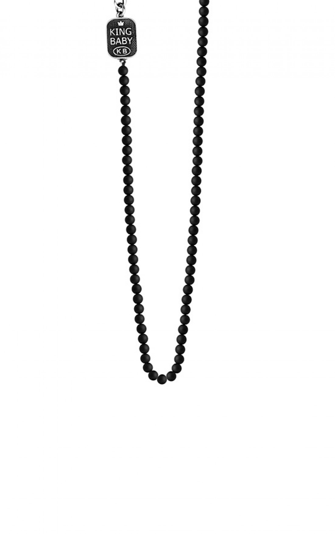 King Baby - Onyx Bead Necklace (K55-5300)