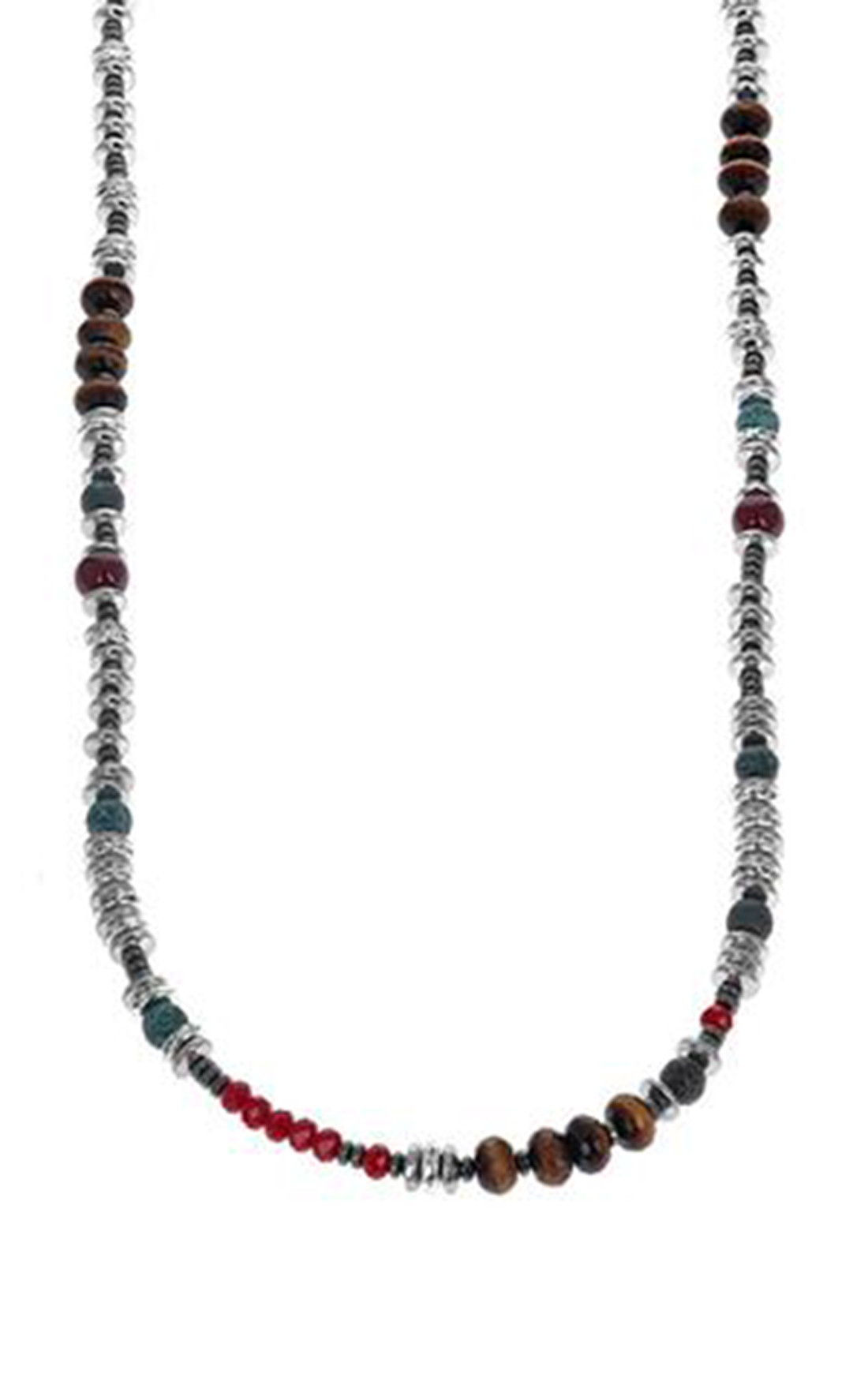 King Baby - Ceramic Tiger eye and Crystal Bead Necklace (K51-5565)