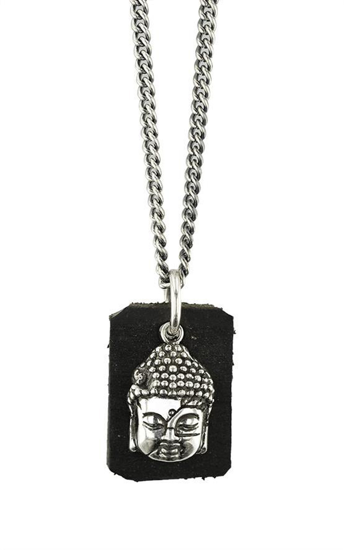 King Baby - Meditating Buddha Pendant with Leather Tag (K10-9068)