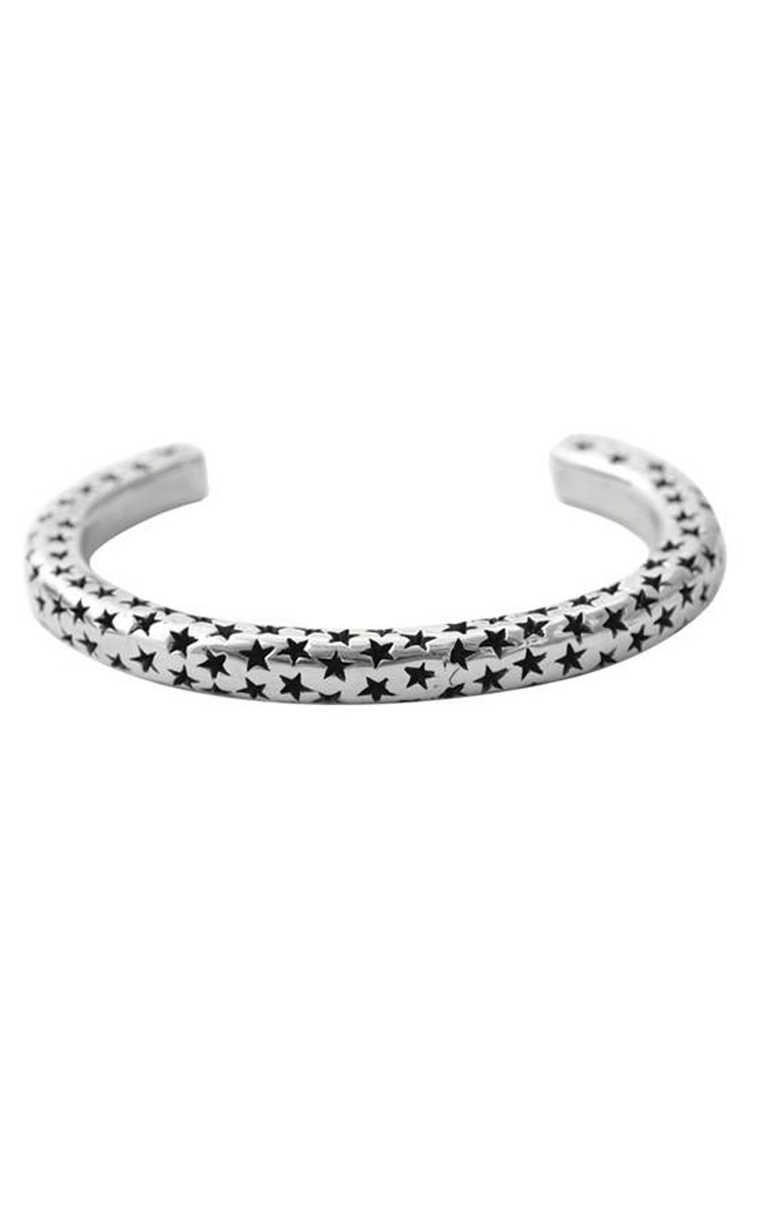 King Baby - Sterling Silver Thin Stars Cuff (K40-5154)