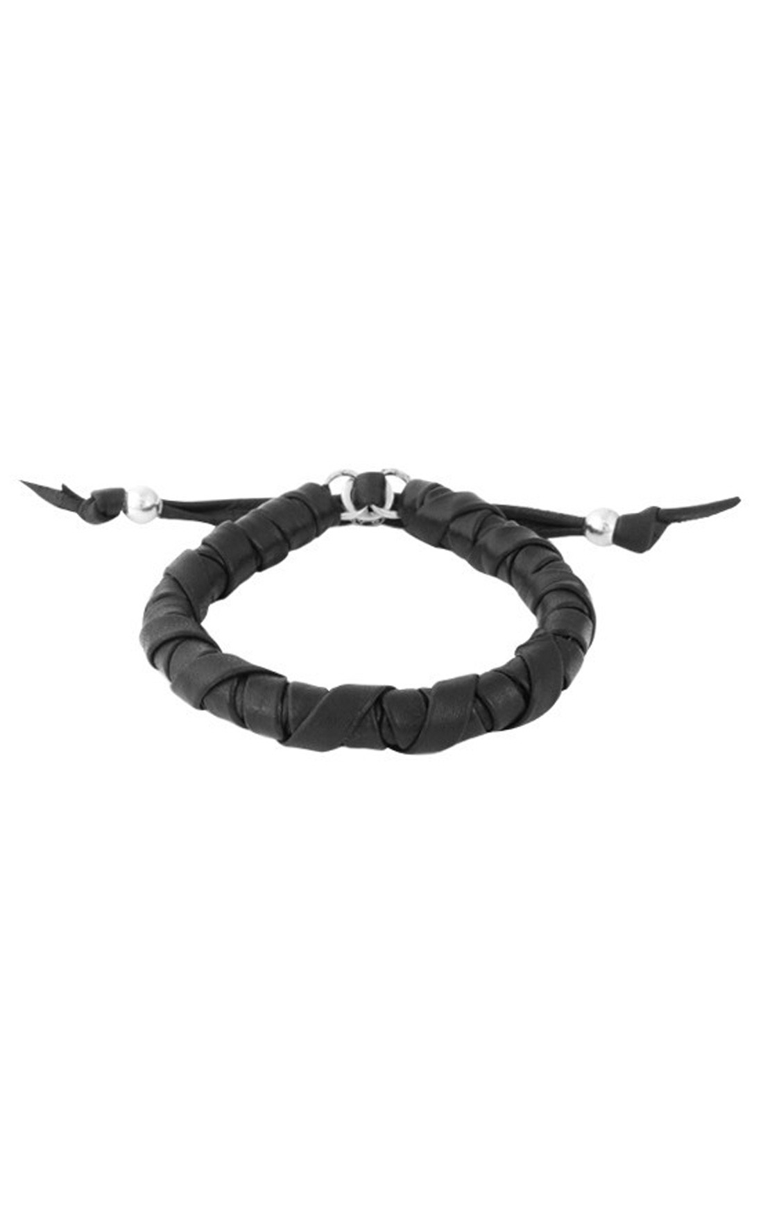 King Baby - Thick Natural Wrap Black Leather Bracelet (K42-8205)