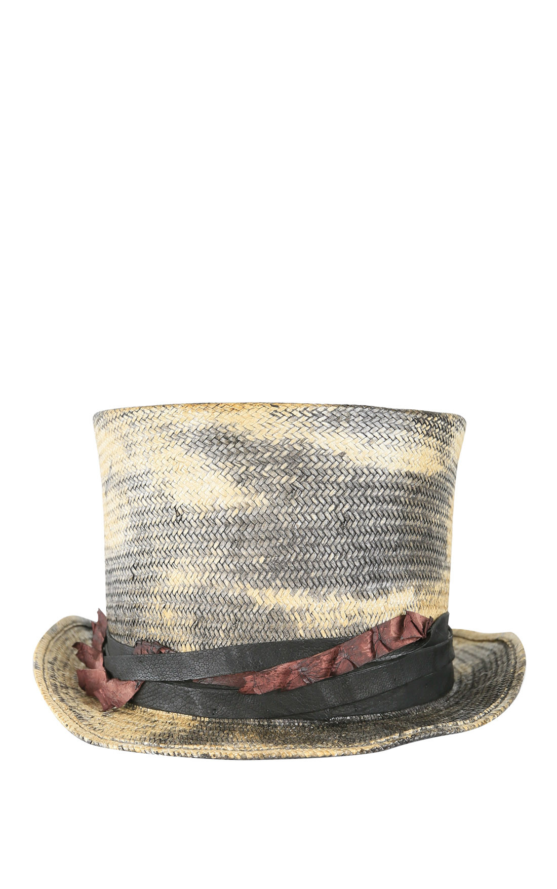 MOVE - Vintage Effect Woven Straw Top Hat (33)