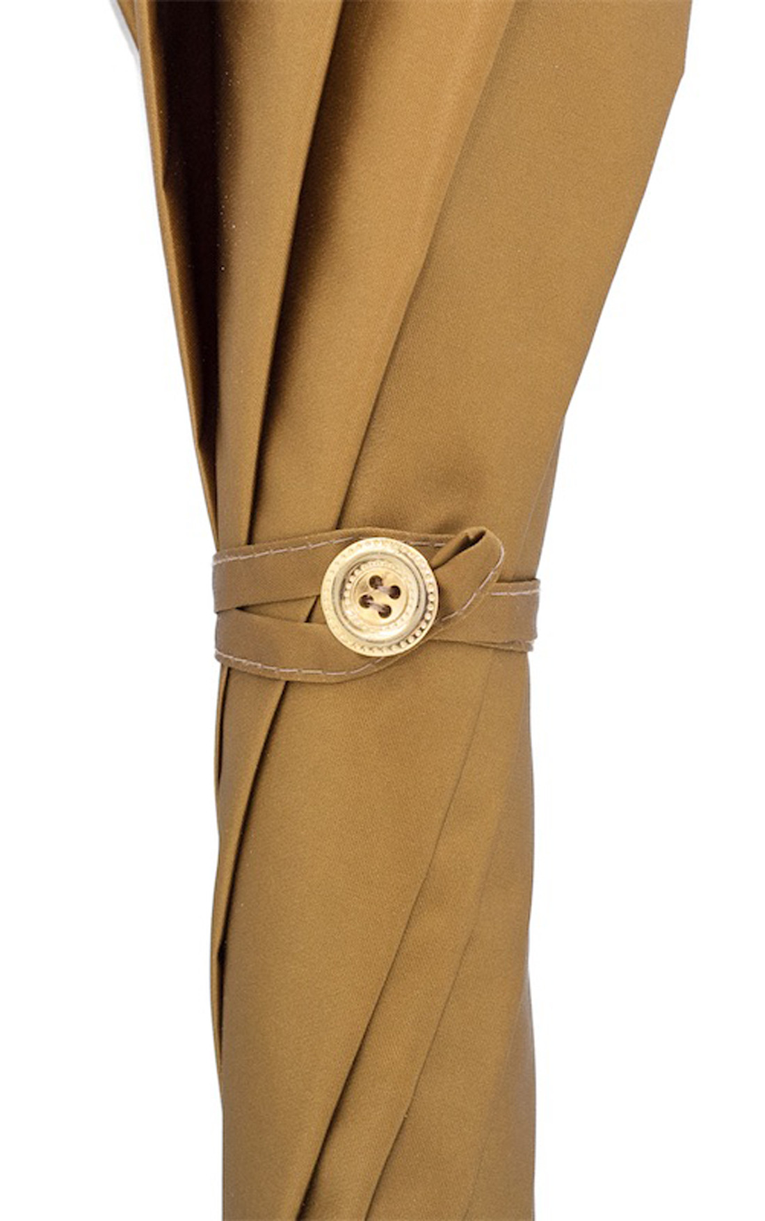 Pasotti - Gold Khaki Umbrella with Gold Lion (460-OMBRELLO-ESCLUSIVO-61/8/10-21284/5-W37-TESTINA-ORO)