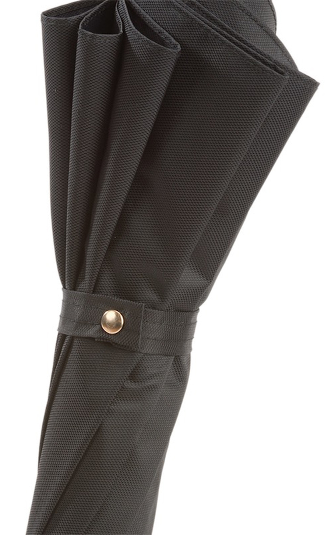Pasotti - Black Umbrella with Red Lucifer Handle (479-OXFORD/18-K77-LUCIFER-ROSSO)