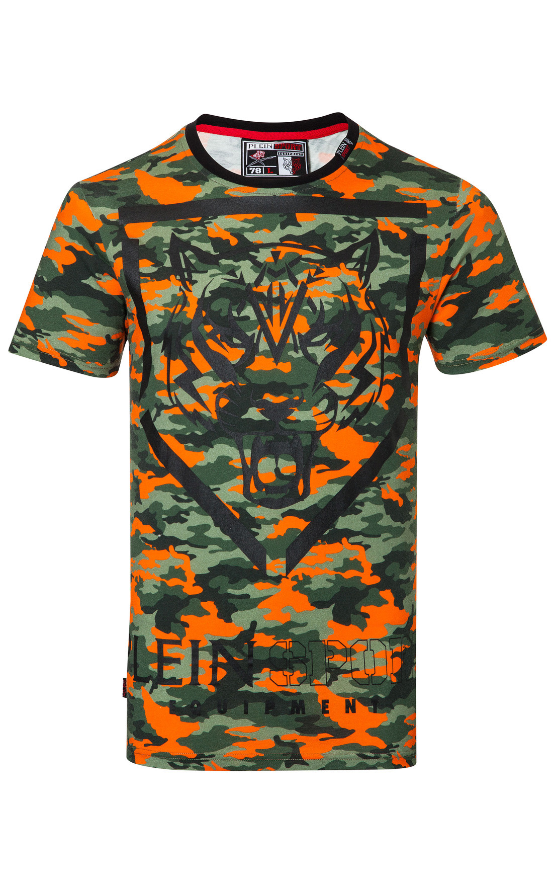Plein sport mens space orange camo t shirt plein sport for Camouflage t shirt design