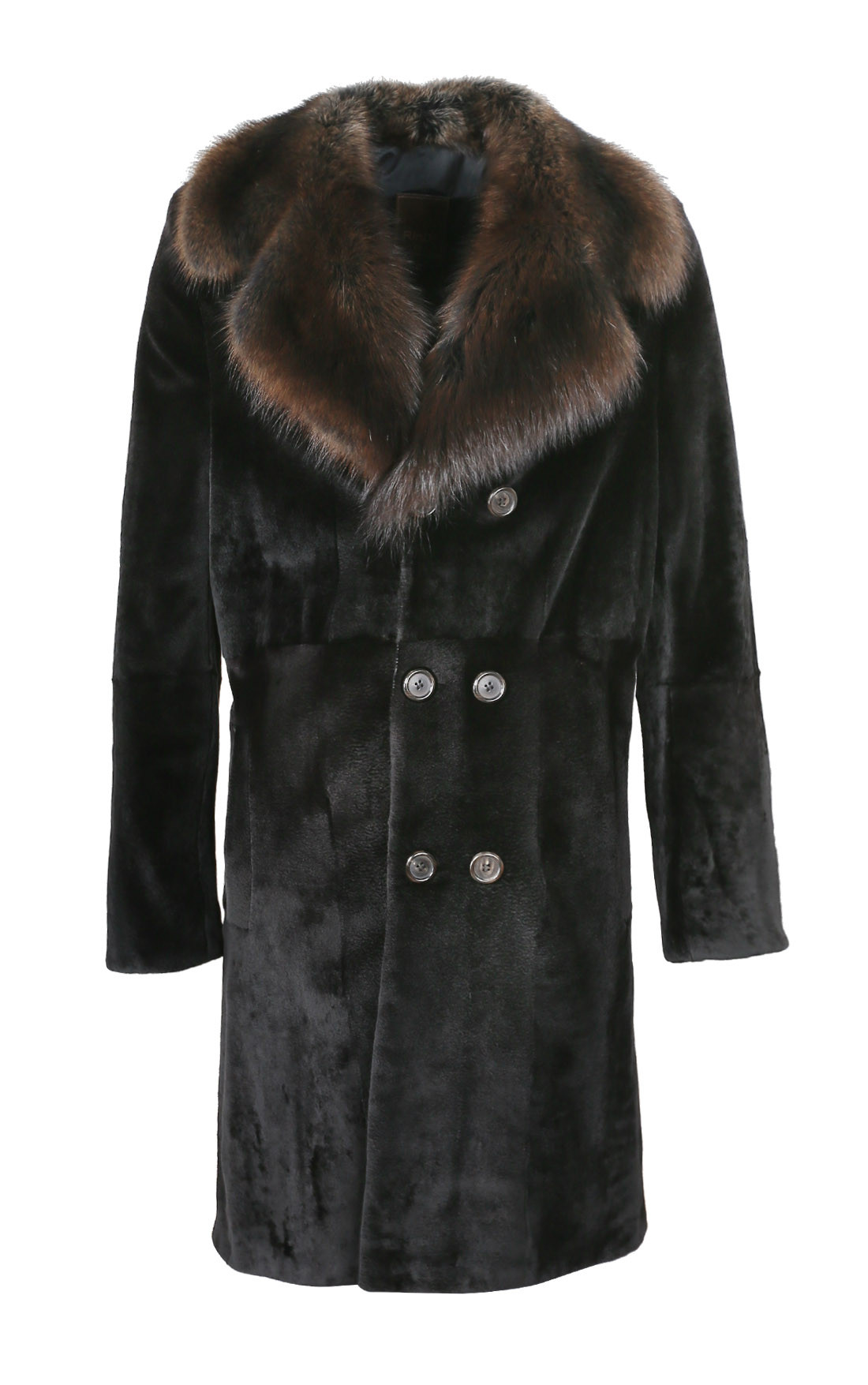 RinDi - Black Shaved Mink Coat (006VMRU6)