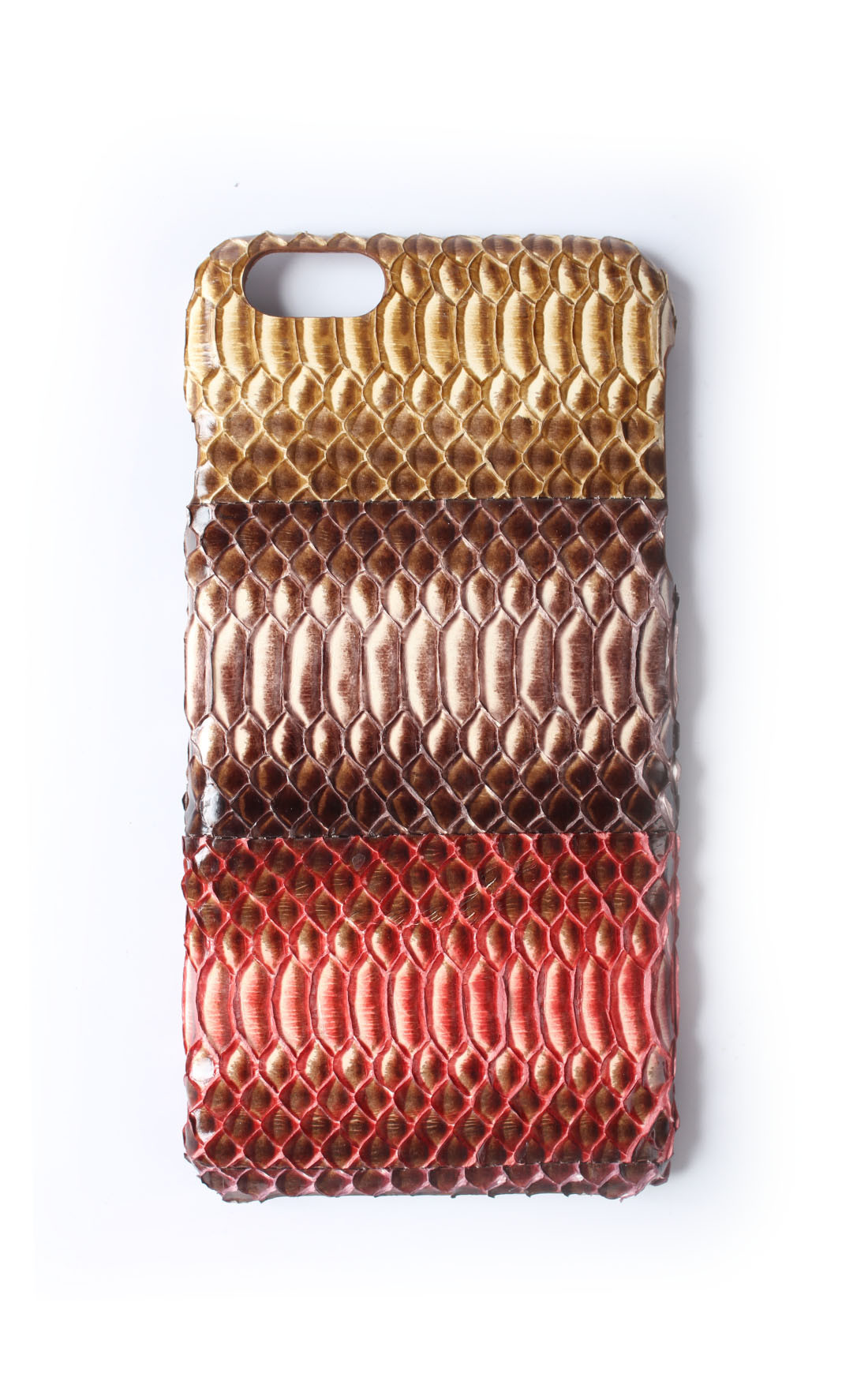 The Case Factory - Real Water Snake Patchwork Mare iPhone 6 Plus (103192)