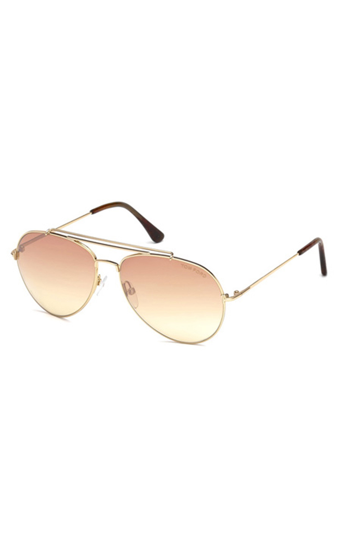Tom Ford - Indiana Shiny Rose Gold Aviator Sunglasses (FT04976028Z)