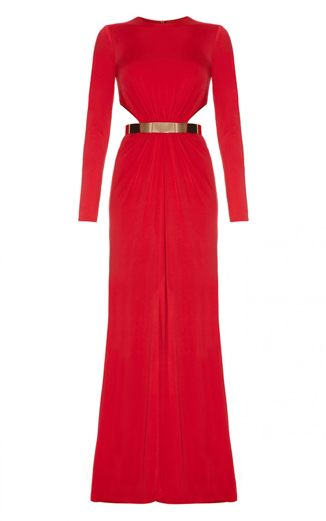 Forever Unique  Harrie  Long Sleeved maxi dress Red d6bf85d34