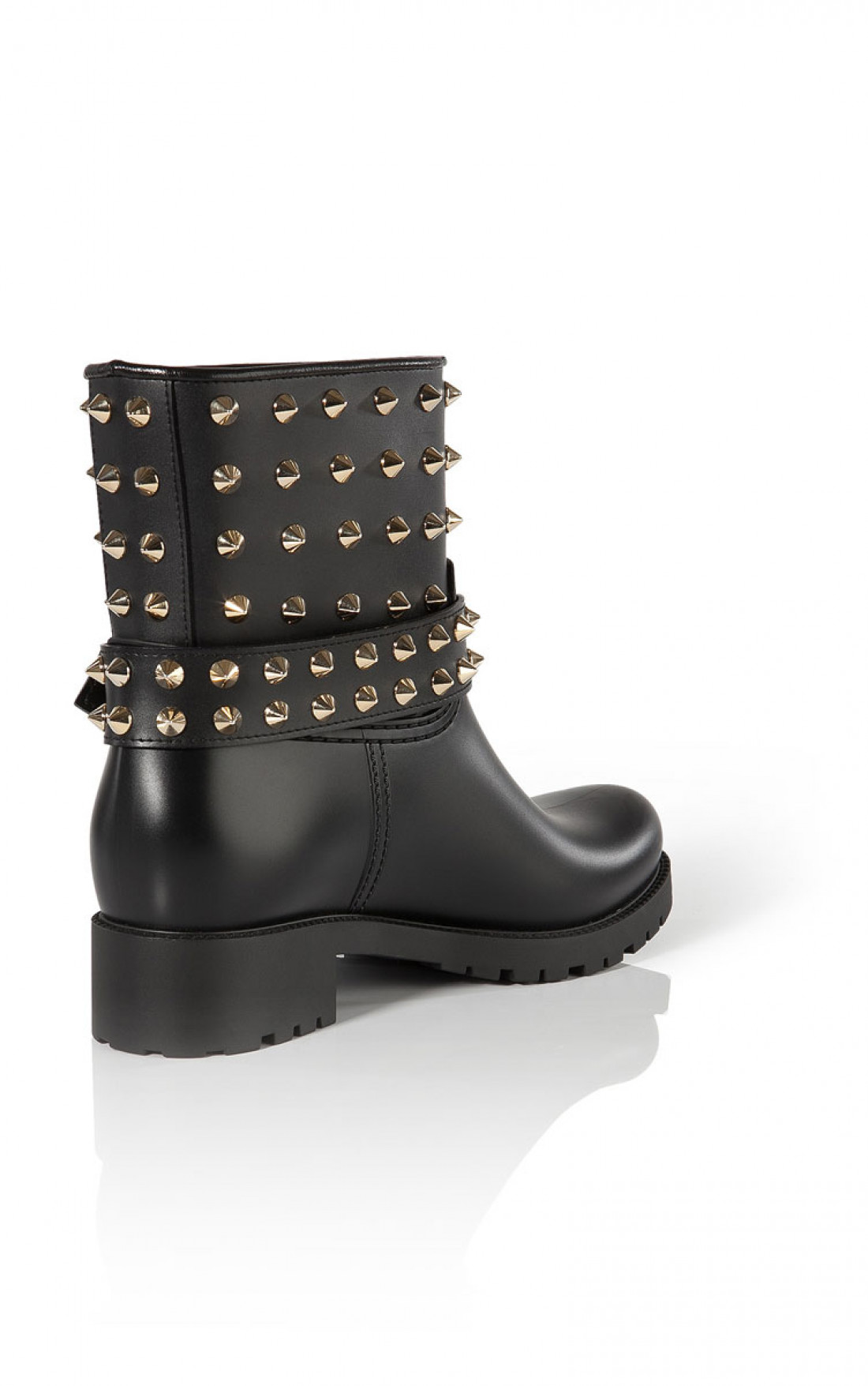 Philipp Plein - 'Miami' Rubber Shoes Black Back 45 (FW14-SW014078)