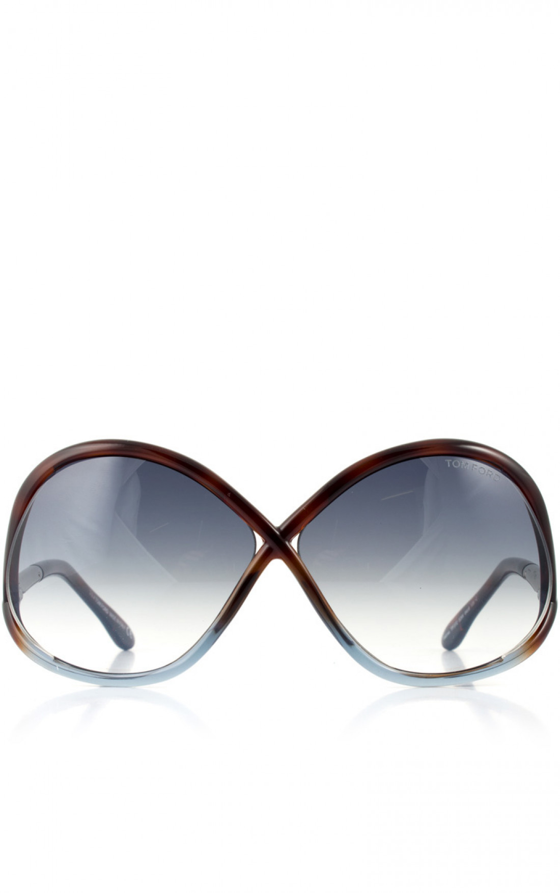TOM FORD - 'Ivanna' Sunglasses Dark Havana Front (FT0372)