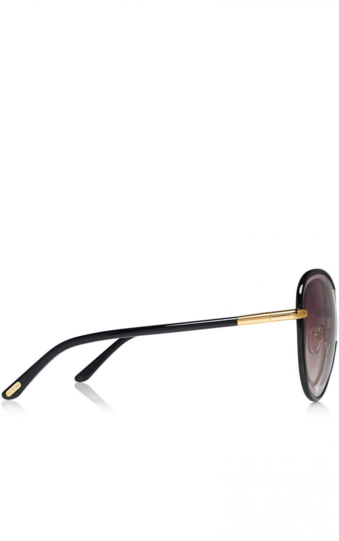TOM FORD 'Rosie' Oversized Butterfly Sunglasses Black Side (FT0344)