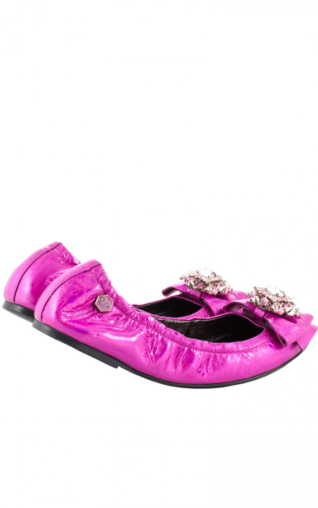 Philipp Plein - 'Ribbon Ribbon' Ballerinas Hot Pink Pair (SS14-SW052035)
