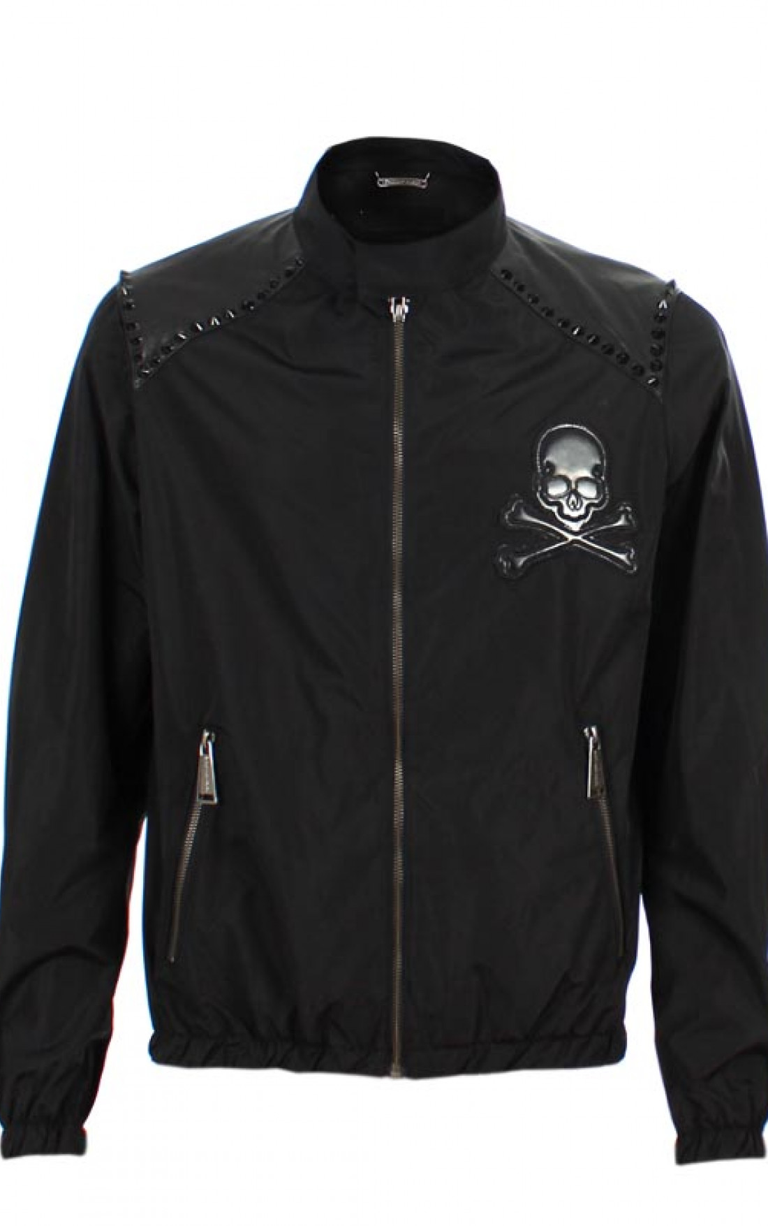 Philipp-Plein-Mens-Basic-Rider-Jacket-Navy-Black-Boudi-UK