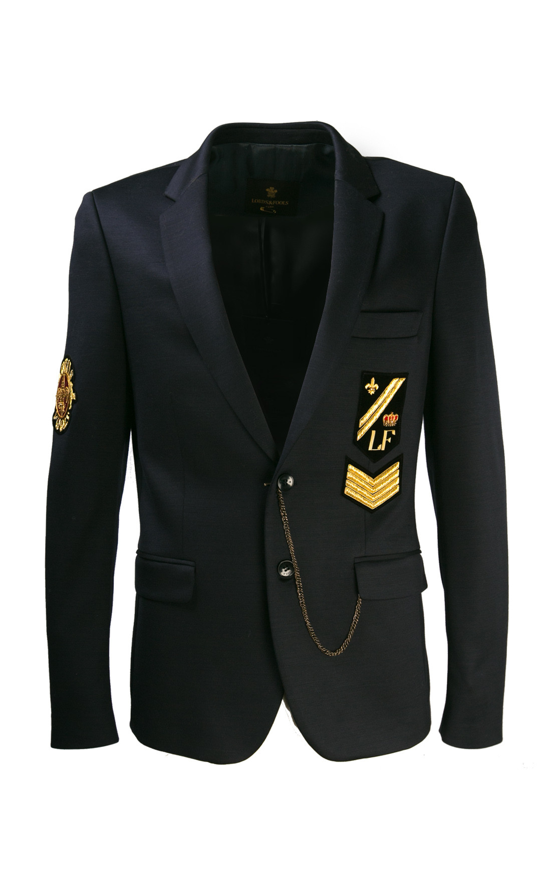 Lords and Fools - Navy Blazer Jacket (W19/FLAT2PAT/55350)