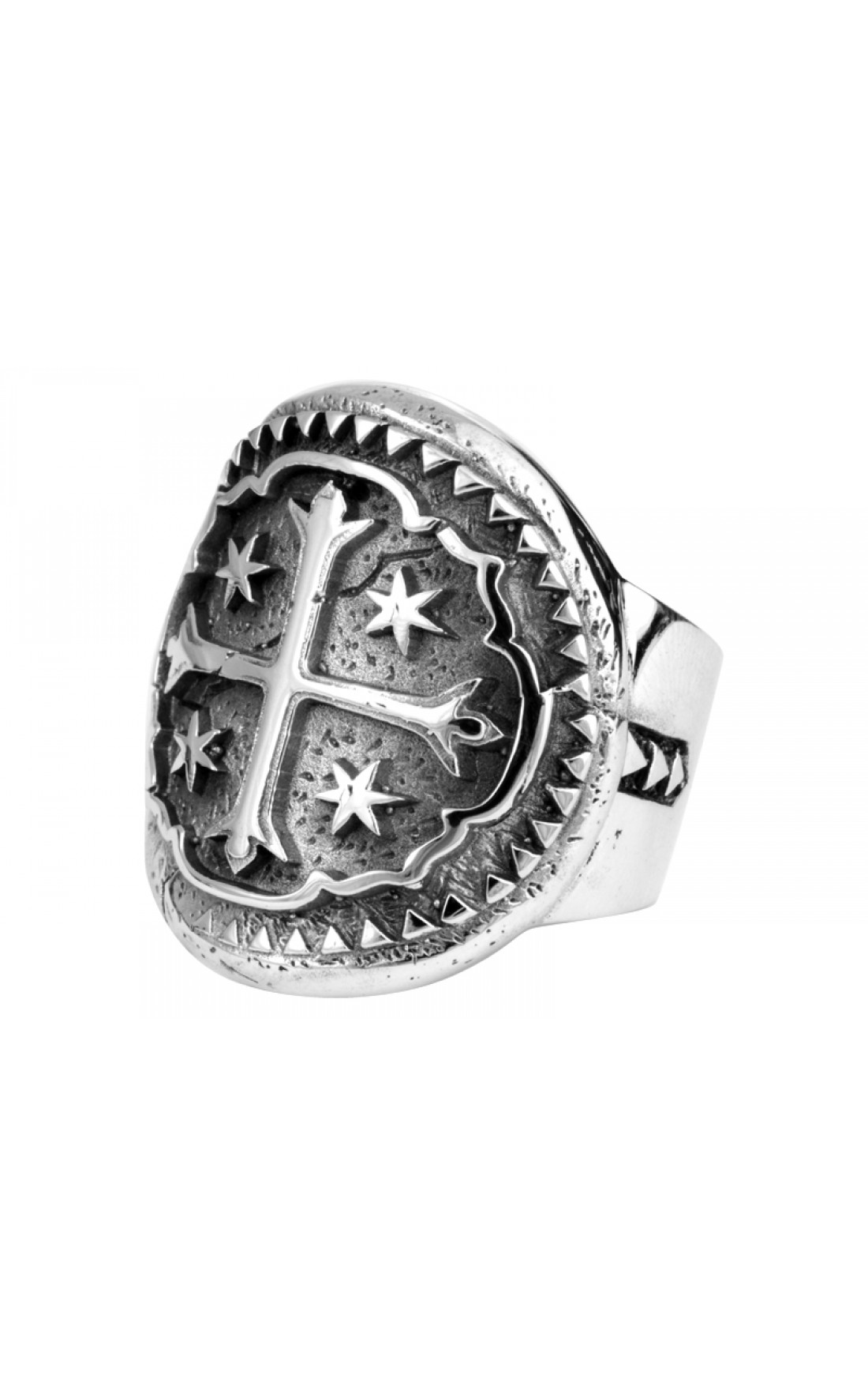 King Baby - Ship Wreck Cross Coin Ring (K20-5623)
