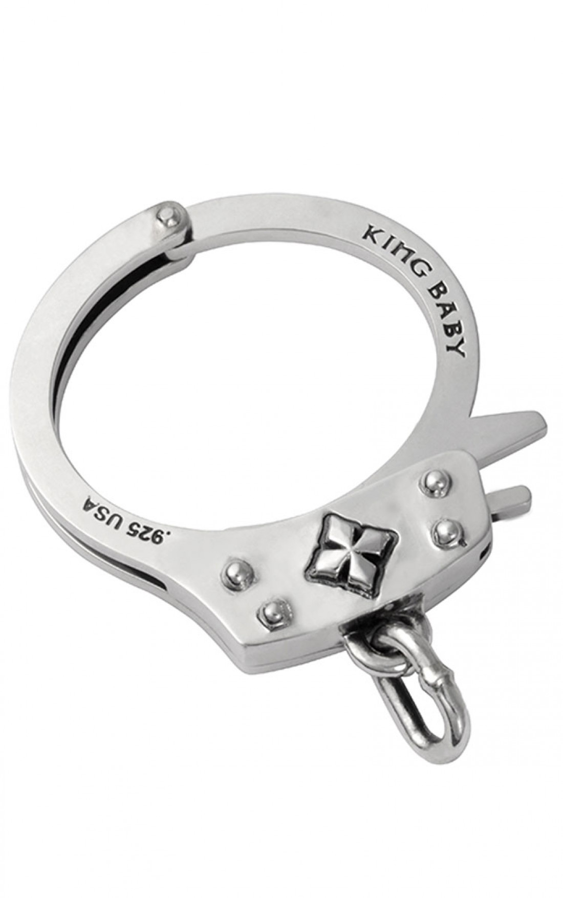 King Baby - Large Handcuff Silver (K40-5527)