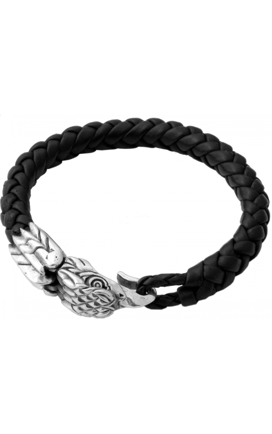 King-Baby-Jewellery-K40-8086-Leather-Silver-Eagle-Clasp-Boudi-UK