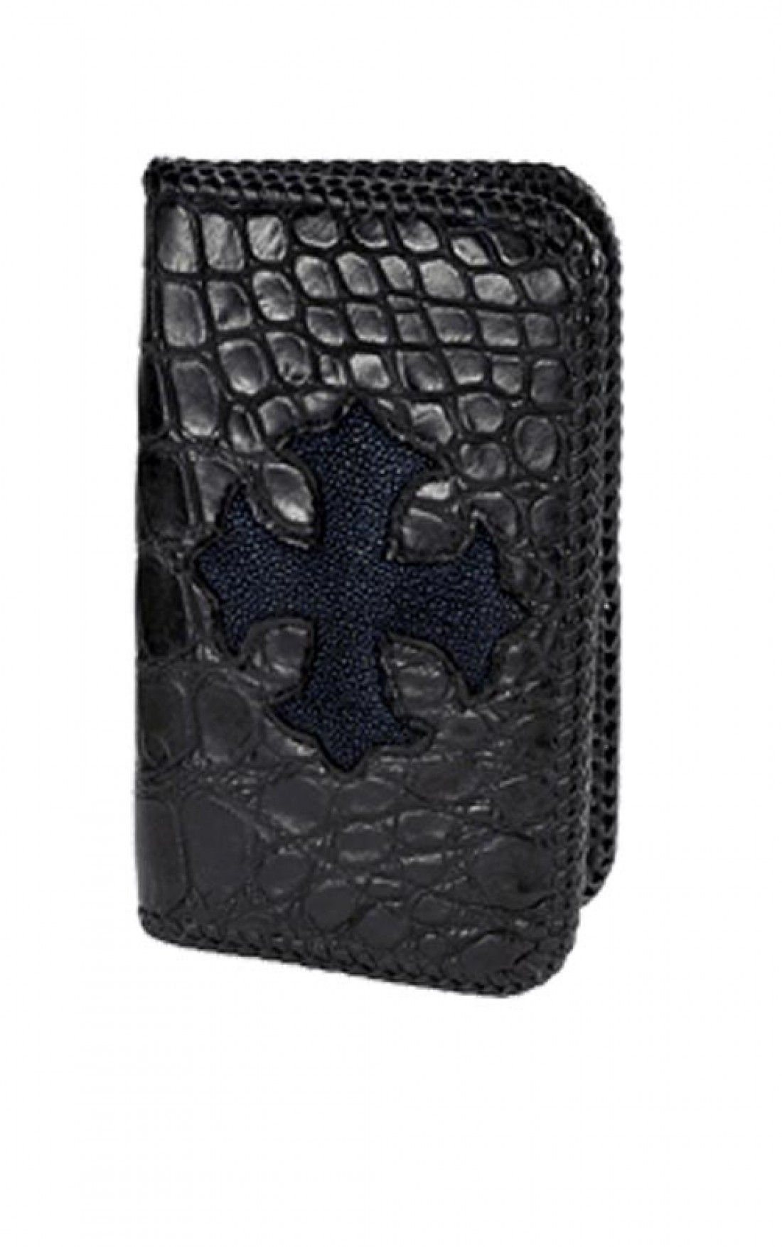 King Baby - Black Gator Wallet with a Stingray Cross (A50-2013)