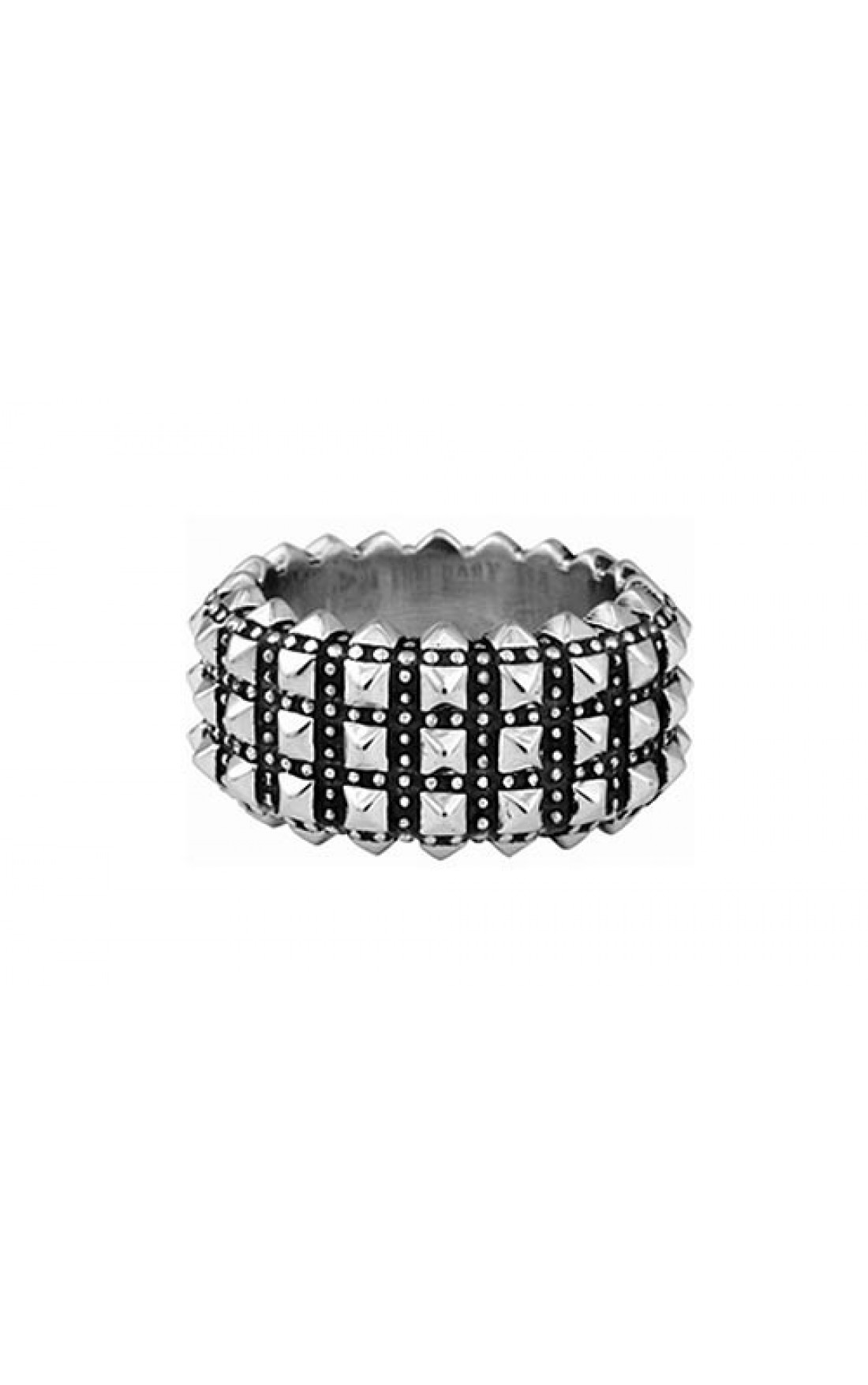 King Baby Jewellery - Wide Pyramid Studded Ring (K20-5167)