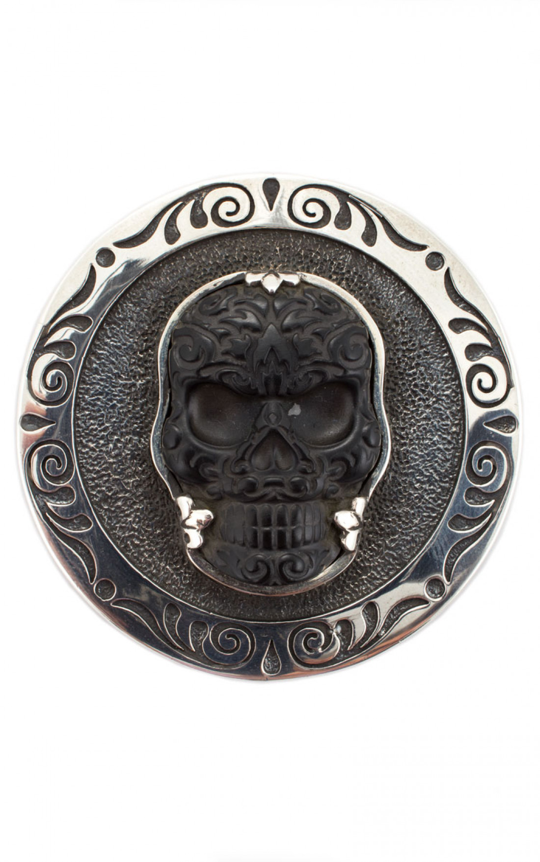 King Baby - Stash Box with Jet Baroque Skull Lid (A90-6003)