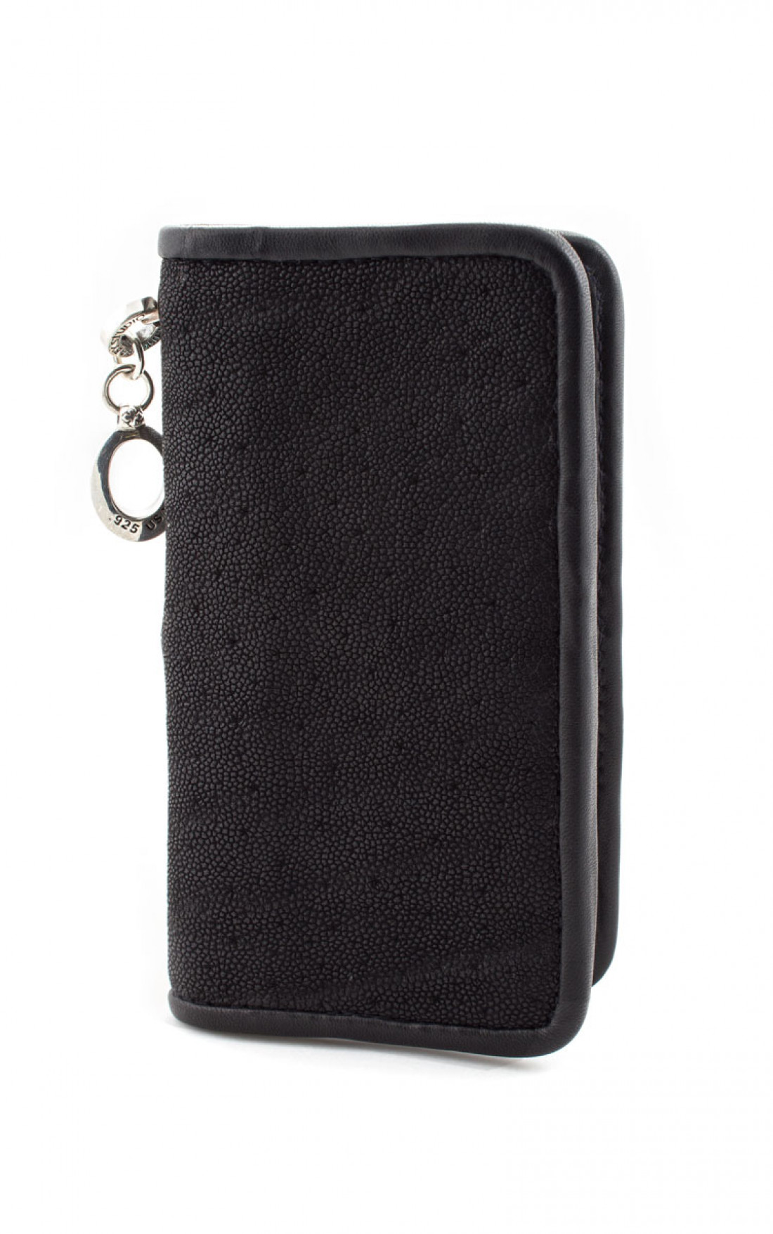 King Baby - Stingray Wallet with Silver Skull Black (A50-2007)