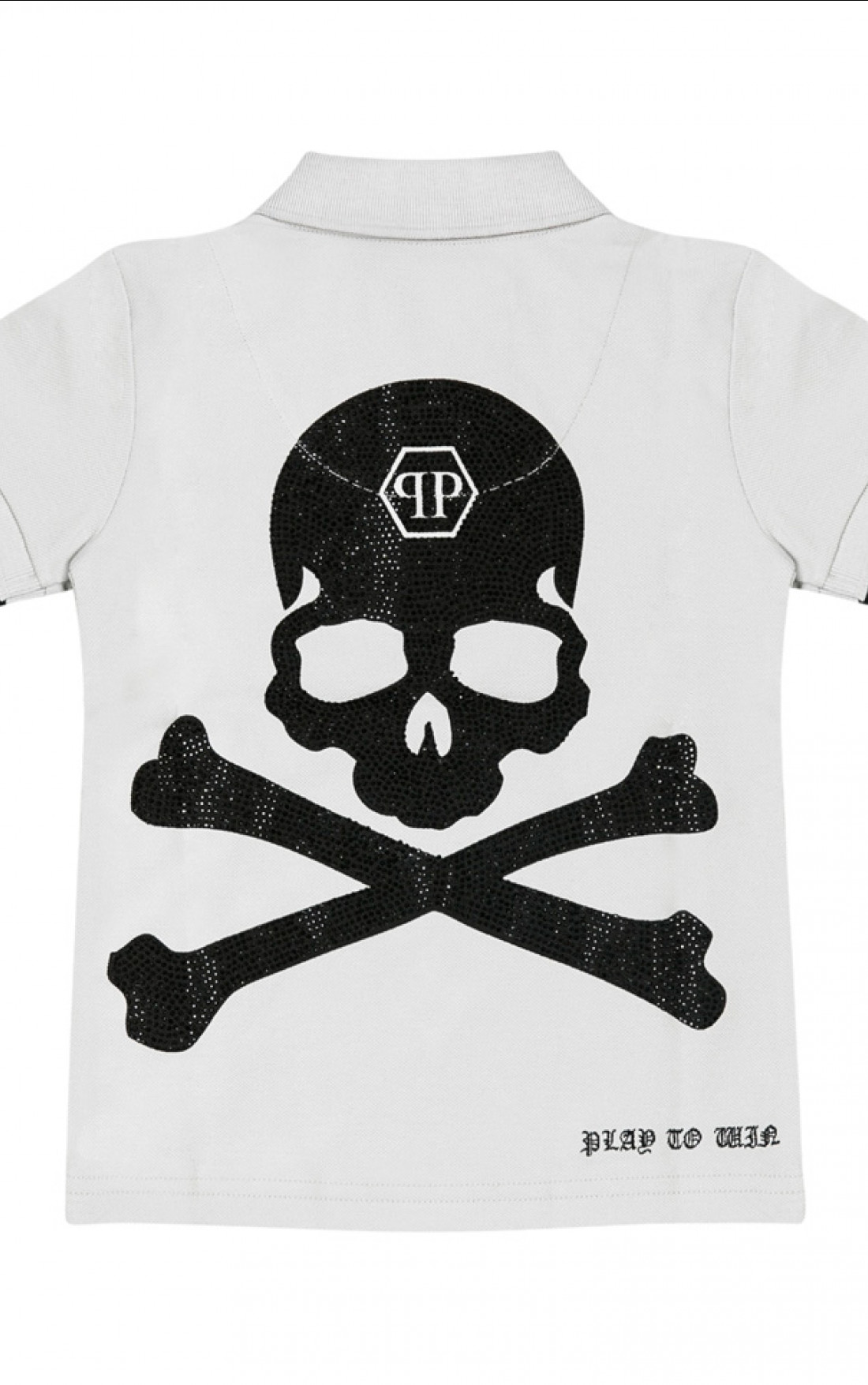 philipp plein plein skull polo grey boudi uk