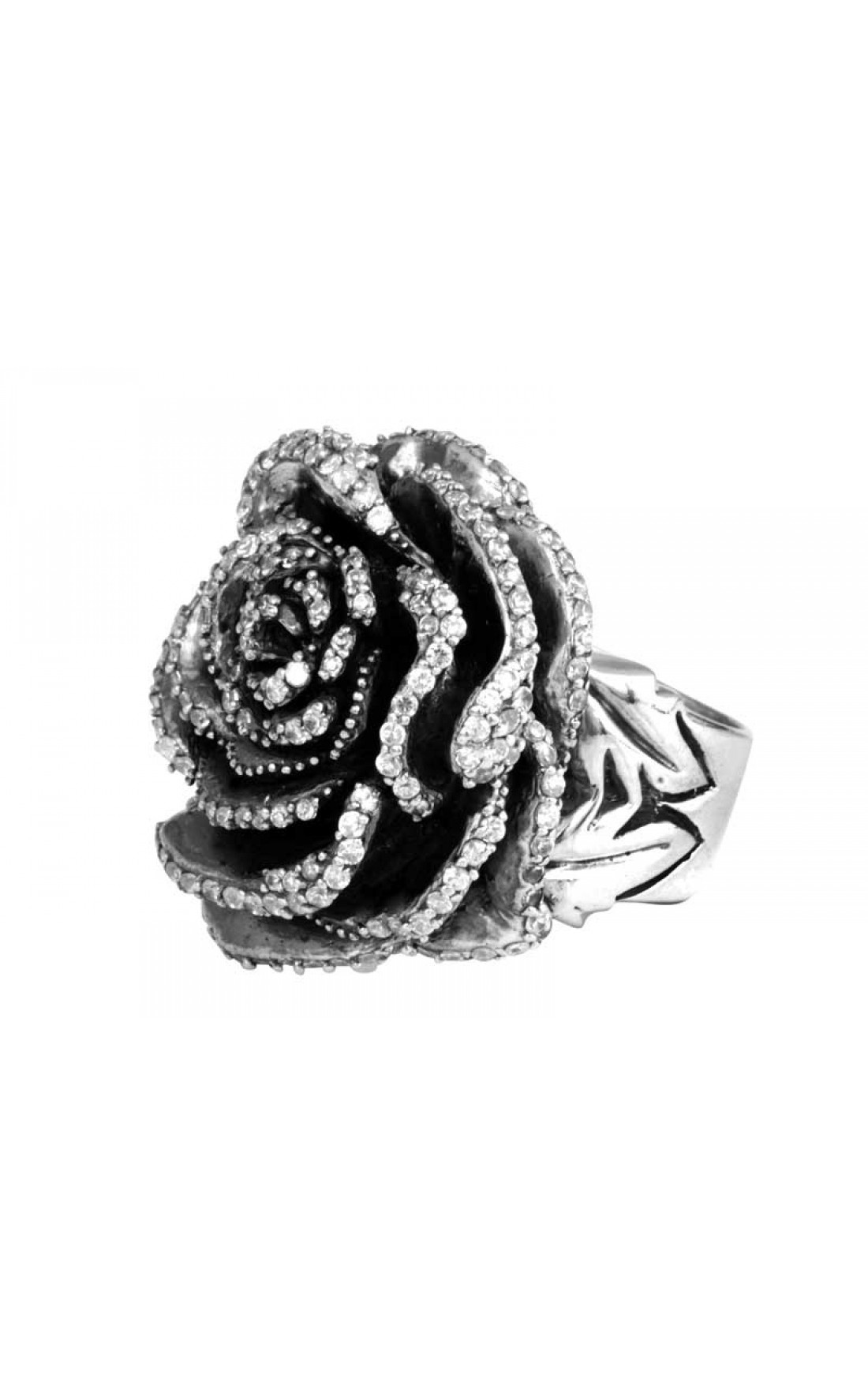 King Baby - Rose Ring White Cz (Q20-5076)