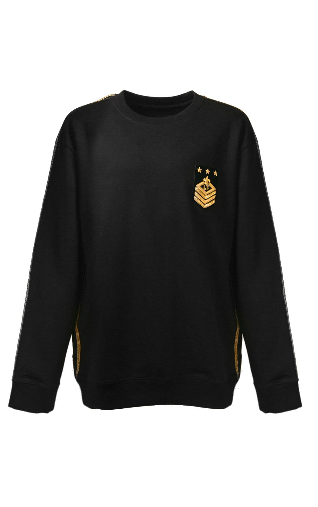 Lords and Fools - Scottish Black Sweatshirt with LF Badge (W19/SCOTTISH/BAND)