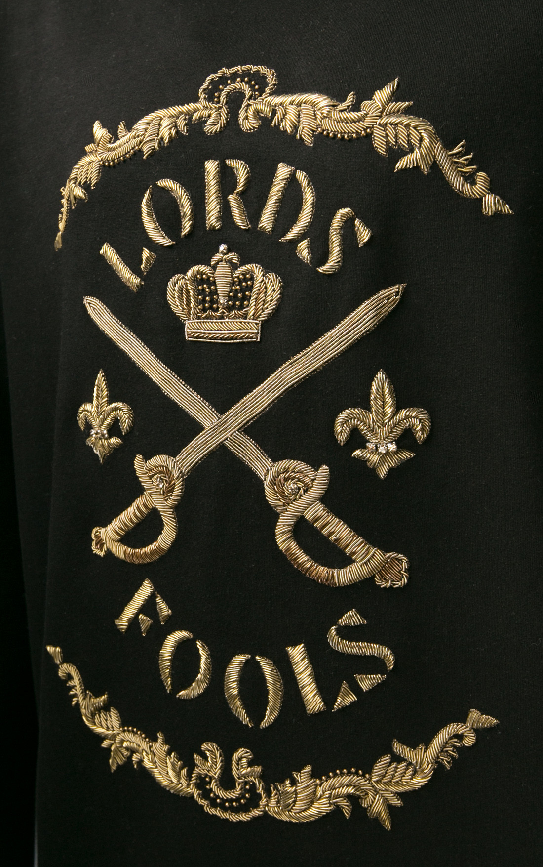 Lords and Fools - Scottish Lords and Fools Black Sweatshirt (W19/SCOTTISH/BROD)
