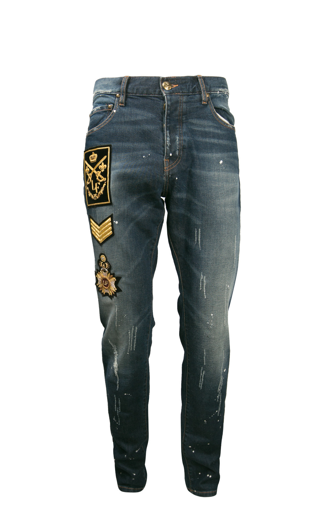 Lords and Fools - King Jeans With Military Patches (W19/KING/FULL/PATCH)