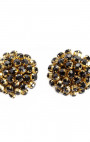 Cleo B - Black & Gold Crystal Shoe Clips