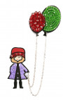 Fashion Drug - Magnetic Fashion Doll with Balloons Brooch