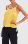 Forever Unique - Genoveva Yellow High-Shine Camisole Top