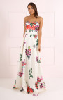 Forever Unique - Betty Floral Print Strapless Dress
