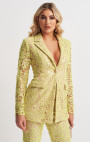 Forever Unique - Kimberley Lime Floral Lace Sequin Suit Jacket