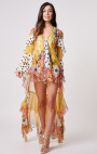 Forever Unique - Benita Yellow Multi Print Duster