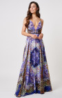 Forever Unique - Paradise Purple Multi Print Maxi Dress