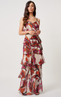 Forever Unique - Aura Orange And Fuchsia Floral Maxi Dress