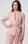 Forever Unique - Atlantis Rose Blazer Jacket With Sequined Striped Detailing