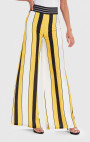 Forever Unique - Vida Yellow, Black And White Striped Wide Leg Trousers
