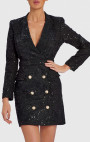 Forever Unique - Blake Black Lace Blazer Dress