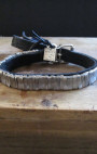 Goti - Silver Leather Bracelet