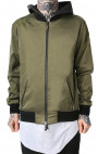 RH45 - Green Bomber Jacket with Print and Distressed