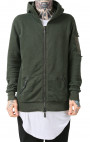 RH45 - Green Hoodie with Leather