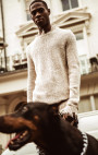RH45 - White Distressed Knitted Jumper