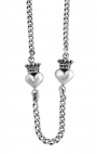 King Baby - Sterling Silver Crowned Heart Necklace
