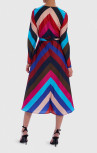 Forever Unique - Multi-Coloured Striped Midi Dress (EX18239)