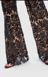 Forever Unique - Jenny Black Sequin Floral Embroidered Tailored Suit Trousers (AF1107)